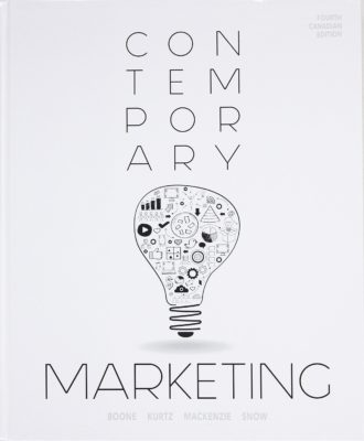 Contemporary Marketing, Fourth Canadian Edition by Louis E. Boone